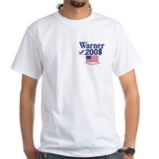 Mark Warner Vote Blue 2008 White T-shirt