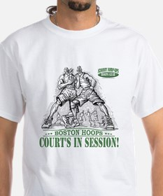 Court's in Session Hoops White T-shirt