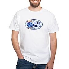New Blue Dog Democrat White T-shirt
