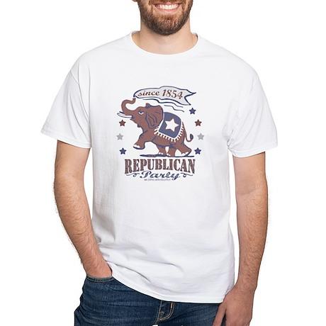 Vintage GOP Elephant White T-shirt