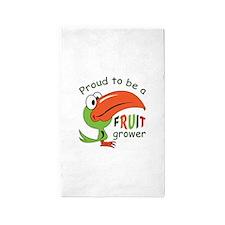 PROUD FRUIT GROWER Area Rug