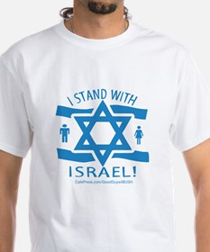 I Stand with Israel White T-shirt