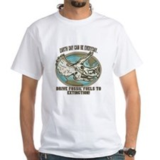 Make Fossil Fuels Extinct White T-shirt 2