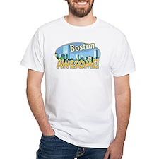Awesome Boston White T-shirt