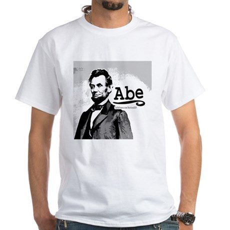"""SAMPLE """"Abe"""" White T-shirt from Shop Above"""