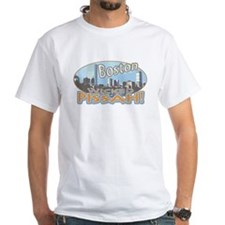 Boston Skyline Wicked Pissah White T-shirt