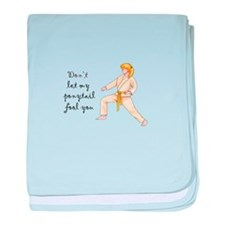 Martial Arts Girl baby blanket