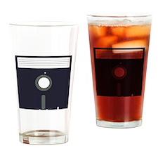 Diskette Drinking Glass
