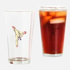 MARTIAL ARTS BOY Drinking Glass