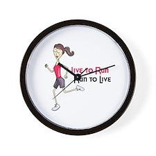 Live To Run Run To Live Wall Clock