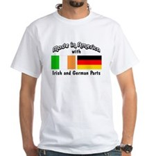 Irish & German Parts White T-shirt