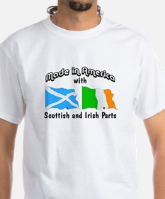 Scottish-Irish White T-shirt