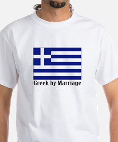 Greek by Marriage White T-shirt