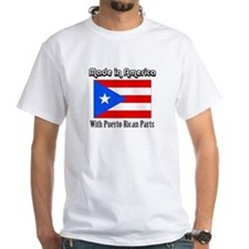 Puerto Rican Parts White T-shirt
