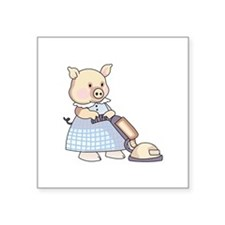VACUUMING PIG Sticker