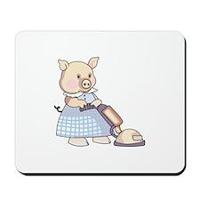VACUUMING PIG Mousepad