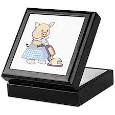 VACUUMING PIG Keepsake Box