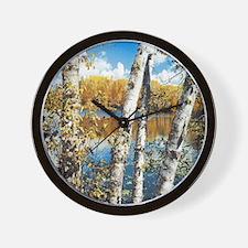 Birch Trees W Wall Clock
