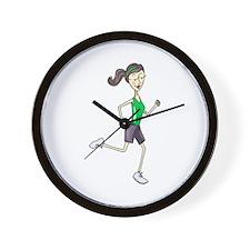 Woman Jogging Wall Clock