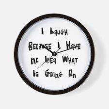 I Laugh B Wall Clock