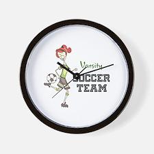 Varsity Soccer Team Wall Clock