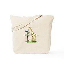 GIRAFFE AND BIRD Tote Bag