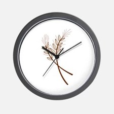 WHEAT STALKS Wall Clock