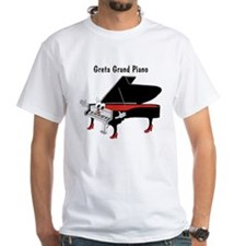 Greta Grand Piano White T-shirt