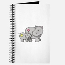 MOTHER AND BABY HIPPO Journal