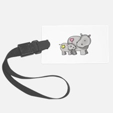 MOTHER AND BABY HIPPO Luggage Tag