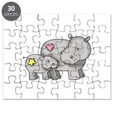 MOTHER AND BABY HIPPO Puzzle