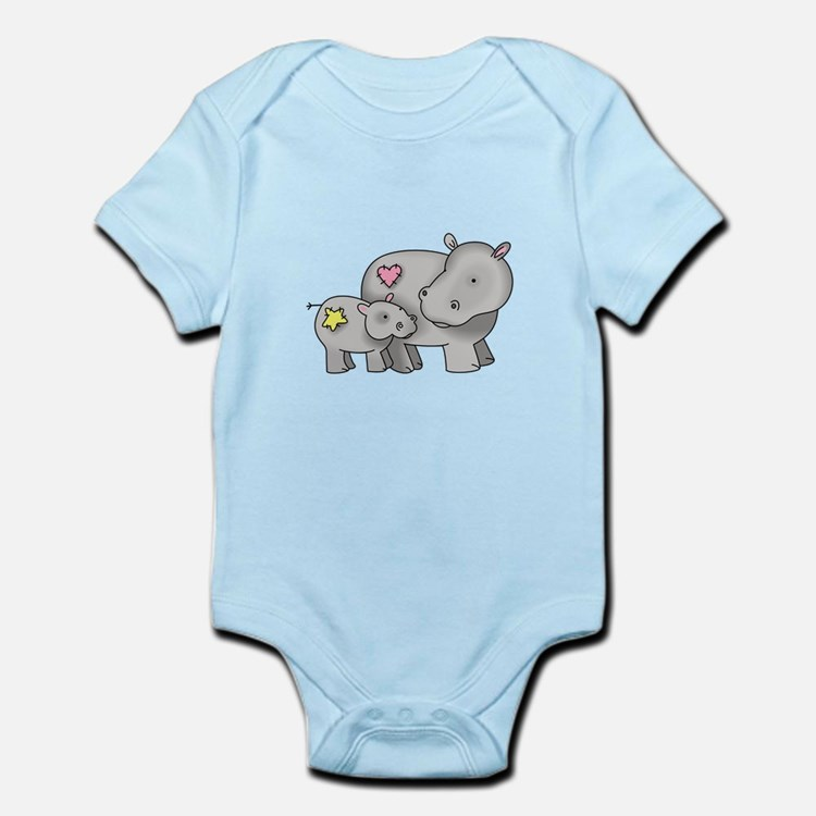 MOTHER AND BABY HIPPO Body Suit