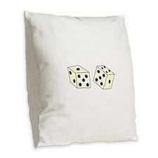 DICE Burlap Throw Pillow
