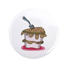 "CHOCOLATE CAKE 3.5"" Button"