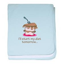 I'll Start My Diet Tomorrow... baby blanket