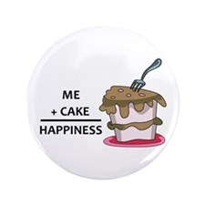 "Me + Cake Happiness 3.5"" Button"