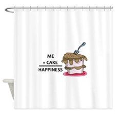 Me + Cake Happiness Shower Curtain