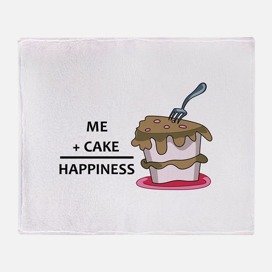Me + Cake Happiness Throw Blanket