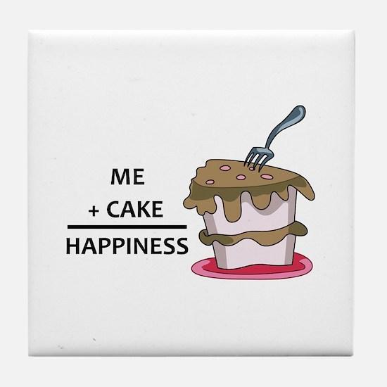 Me + Cake Happiness Tile Coaster