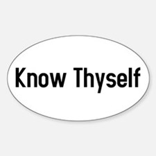 know thyself Oval Decal