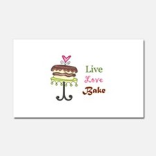 LIVE LOVE BAKE Car Magnet 20 x 12