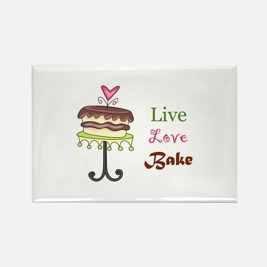 LIVE LOVE BAKE Magnets