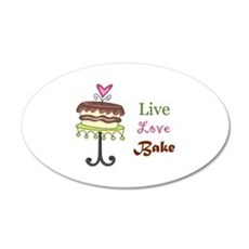 LIVE LOVE BAKE Wall Decal