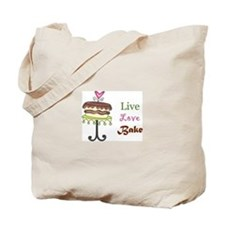 LIVE LOVE BAKE Tote Bag