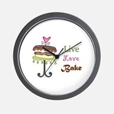 LIVE LOVE BAKE Wall Clock