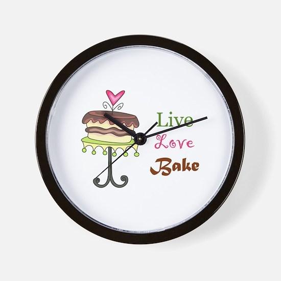 LIVE LOVE BAKE Wall Clock