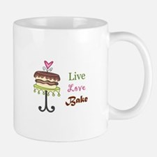 LIVE LOVE BAKE Mugs