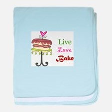 LIVE LOVE BAKE baby blanket