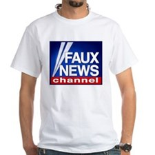 FAUX NEWS CHANNEL White Tee Shirt