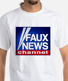 Faux News Channel - White T-shirt